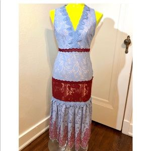 Foxiedox NWT Lace Crochet Maxi Dress